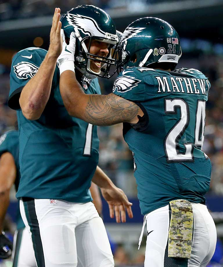 On the day that he turned 28, Sam Bradford connected with wideout Jordan Matthews on a 41-yard touchdown pass in overtime to give Philadelphia a hard-fought 33-27 win over the Dallas Cowboys. He's believed to be the first QB to start and win a regular-season overtime game on his birthday.