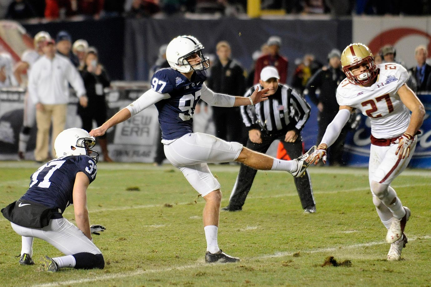 Ficken booted a 45-yarder to force OT and then clinched the Nittany Lions' win with an extra point.