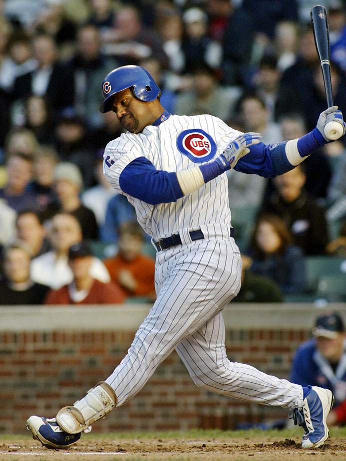 Long before his name was associated with performance-enhancing drugs, the Chicago Cubs slugger received a seven-game suspension for using a corked bat during a during a June 4, 2003, game (pictured) against Tampa Bay. Sosa said the cork was for belting long home runs during batting practice and he had used it by mistake. It was the beginning of the end of his romance with Cubs fans.