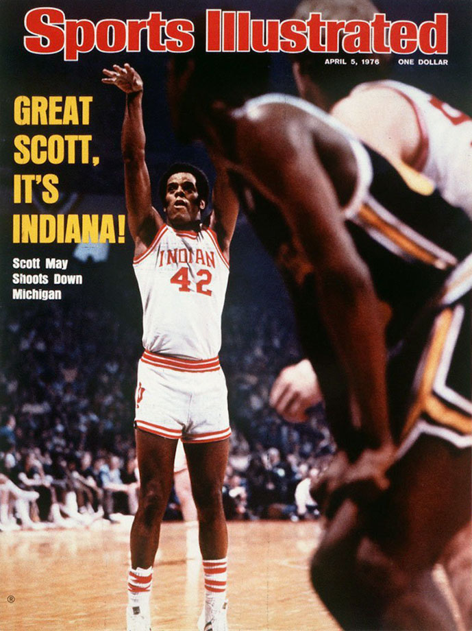 In some ways, May might be best remembered for having broken his arm toward the end of the 1975 season, which robbed Indiana of the chance to win a title. That's how valuable he was to the Hoosiers. May made up for that absence during his senior season, when he averaged 23.5 points per game and helped lead the Hoosiers to a perfect season. When his son, Sean, won a national title with UNC in 2005, they became the third father-son duo to both win NCAA men's basketball championships.
