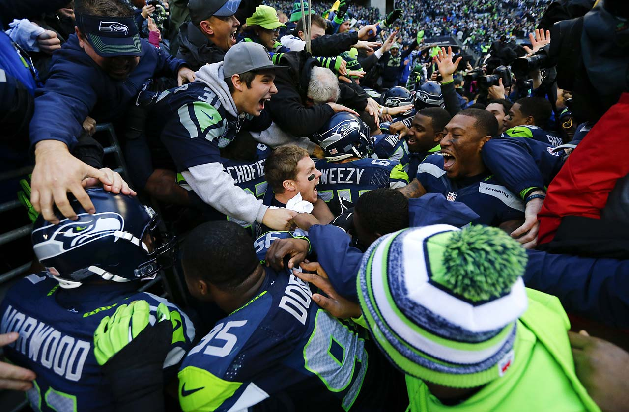 The improbable Seattle victory sparked a wild celebration among players and fans alike.