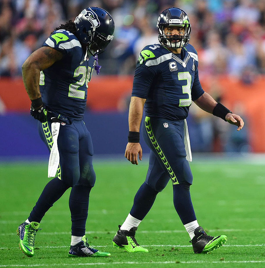 One bad playcall away from back-to-back Super Bowl titles, the Seahawks are hellbent on erasing that memory in 2015. Unfortunately, their window is closing, as Marshawn Lynch is fourth among active leaders in career carries. Jimmy Graham is certainly a great add, and this defense is among the best, but … What was the question? Oh yeah, they won't win the Super Bowl this year because Russell Wilson finally got paid! … and he has two last names. That's never good.