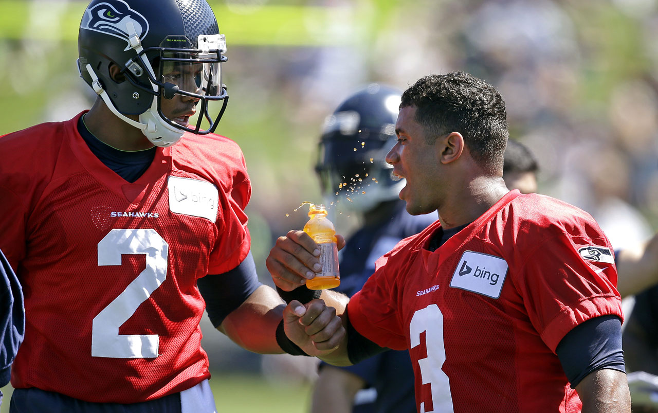 Terrelle Pryor and Russell Wilson