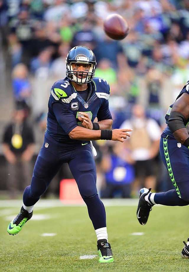 Russell Wilson fired two touchdown passes while connecting on 19 of his 28 throws for 191 yards.