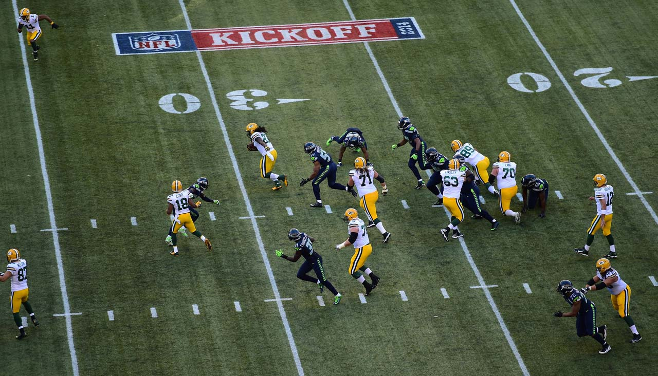 Green Bay had just 80 yards rushing against the Seahawks vaunted defense.