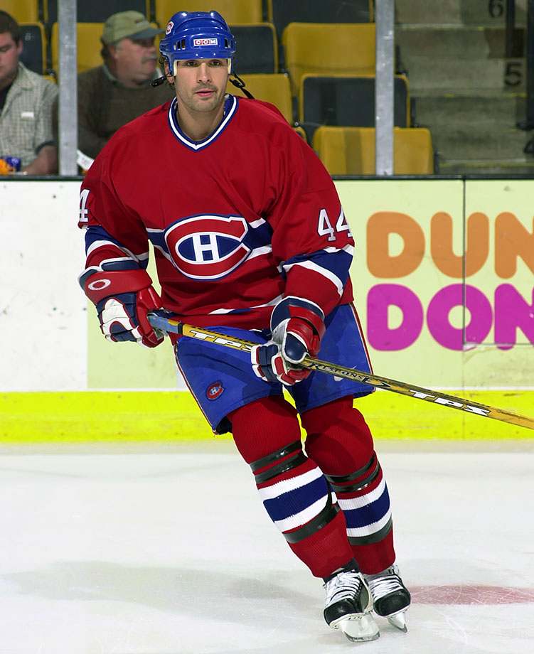 When Vladimir Malakhov's relationship with the Canadiens (and their fans) reached the point of no return, Lamoriello leapt at the chance to upgrade his team ahead of the playoffs. Souray, a third-year player used mostly at the bottom pairing, was packaged with prospect Joshua DeWolf and a 2001 draft choice and sent to Montreal. He matured into an All-Star with the Habs, but never advanced beyond the second round of the playoffs.