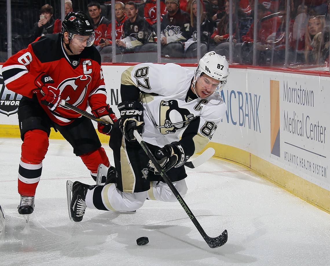 Like every great player, Sidney Crosby's been through the occasional rough patch. Nothing, though, quite like this. He's shooting just 6.5%, less than half his career average (14.1%) and is on pace for career lows in goals, assists and points. His team has struggled with him, leading to the firing of coach Mike Johnston. Midway through the season, the Pens are touch-and-go to make the playoffs.