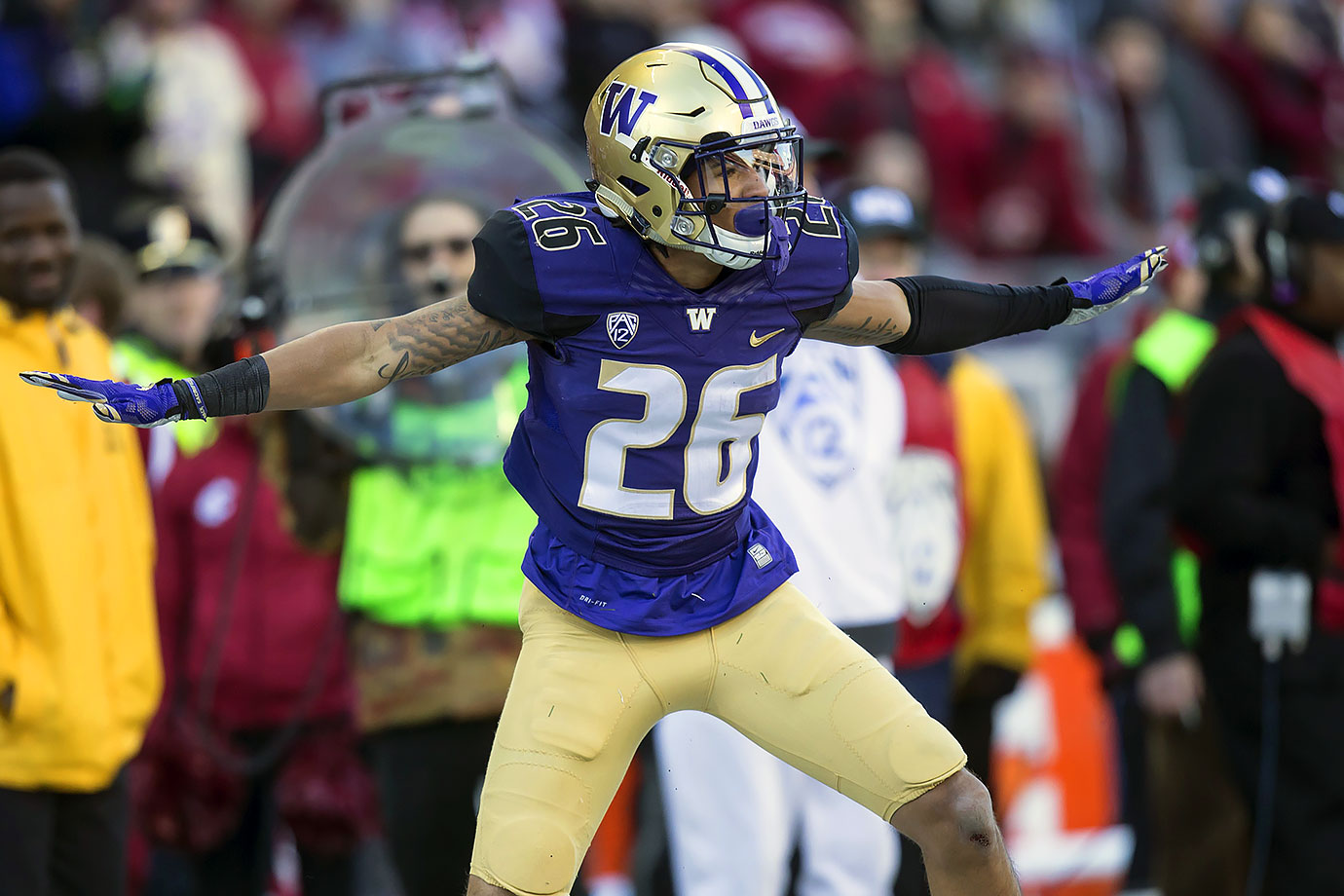 After totaling four interceptions (good for fourth in the Pac-12) in 2015, Jones was named first-team All-Pac-12. He's just one part of a loaded Washington secondary that boasts fellow first-team All-Pac-12 junior Budda Baker.