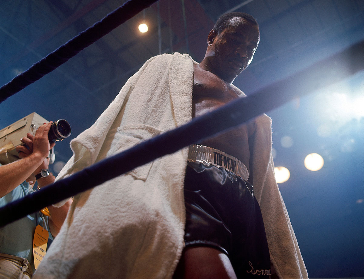 Liston stands defeated after suffering only his third loss in 38 bouts.
