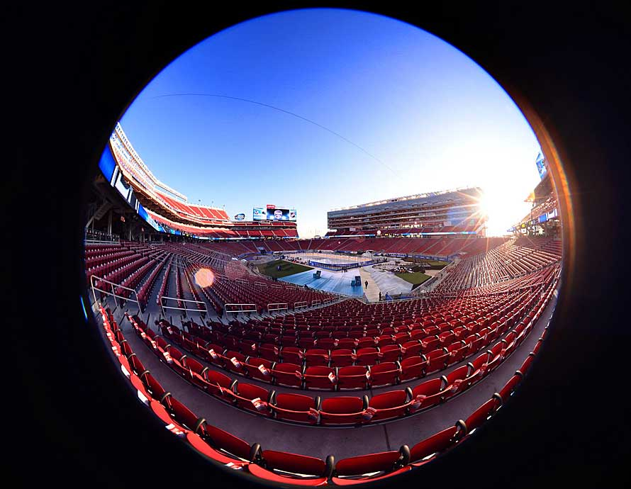 Levi's Stadium, home of the San Francisco 49ers, in Santa Clara hosted Northern California's first outdoor game, a clash between the local favorite San Jose Sharks and the Los Angeles Kings on Feb. 21, 2015.