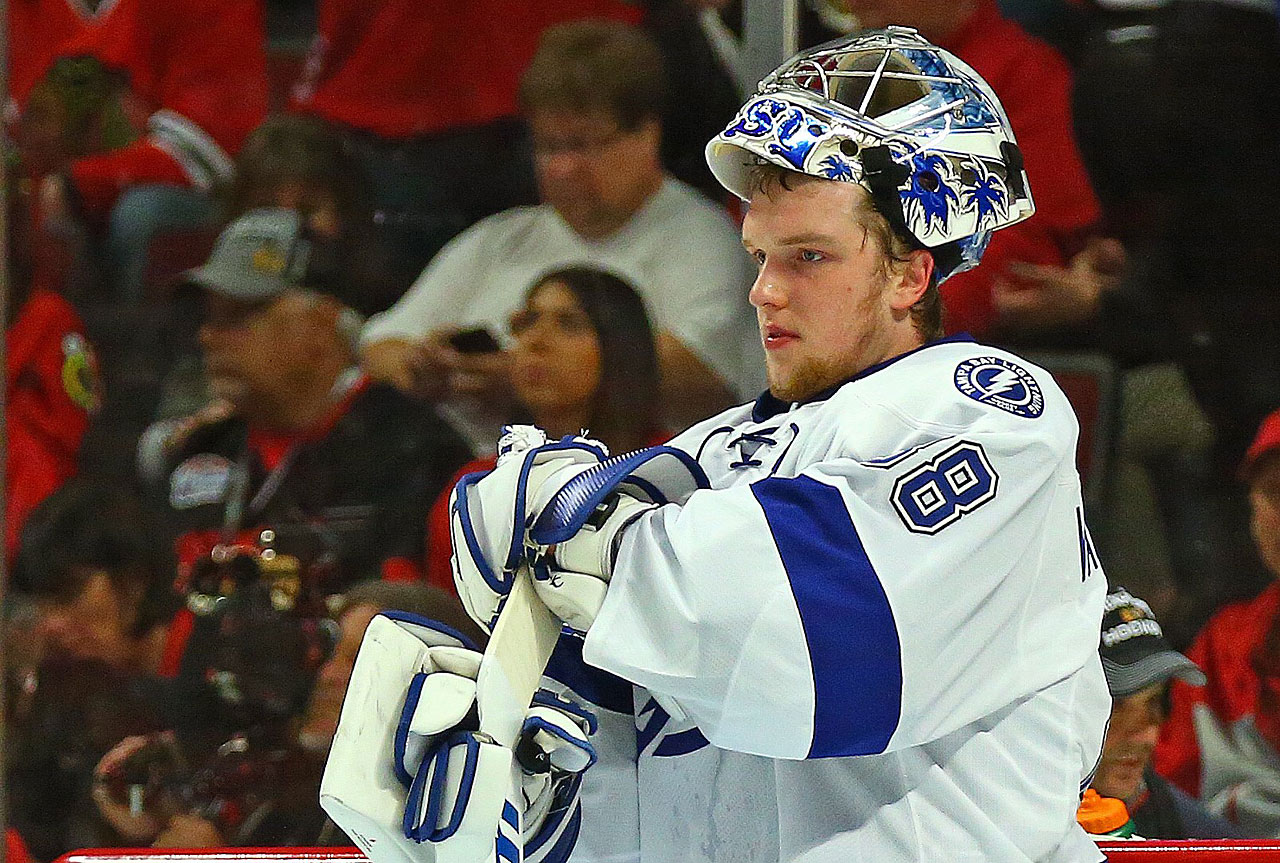 Andrei Vasilevskiy made 17 saves on the night. He joined the Lightning in December and played in just 16 games during the regular season -- none since March 31.