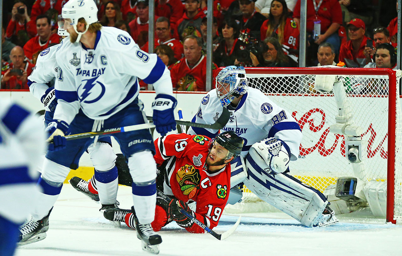 Jonathan Toews and the Blackhawks risked going back to Tampa in a 1-3 hole had they not won Wednesday night.