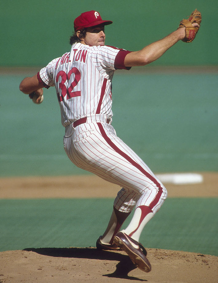 One of the greatest left-handed pitchers of all-time, Carlton is fourth in career strikeouts (4,136) and 11th in wins (329). A four-time Cy Young winner, Carlton's best season may have been 1972, when he won 27 games for a Phillies team that won just 59.