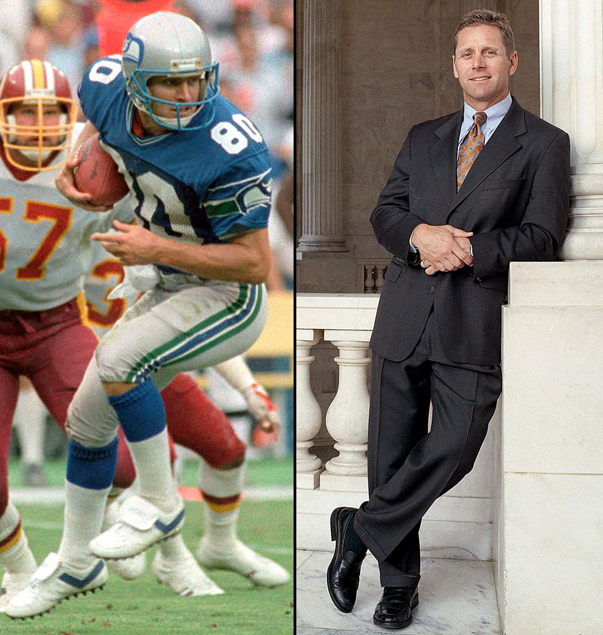 Largent was the NFL's all-time leading receiver with the Seahawks (his records have since been broken by Jerry Rice) and then went on to a prosperous career in politics. He was elected to serve in Congress as a representative from Oklahoma in 1994, and he was narrowly defeated in a bid to become the state's governor in 2002.