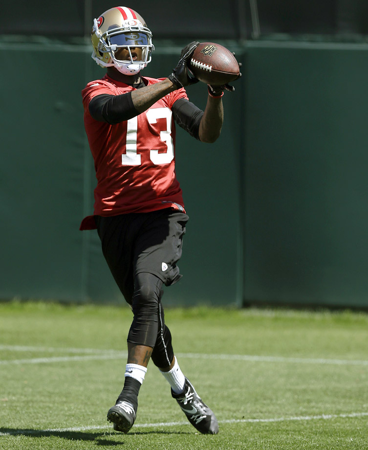 The oh-so-colorful former Buffalo Bills wide receiver is now part of the San Francisco 49ers.  Unfortunately for Johnson, in a receiving corps that includes Anquan Boldin, Michael Crabtree and Vernon Davis, passes won't be coming nearly as often as they did when Johnson was with the Bills.