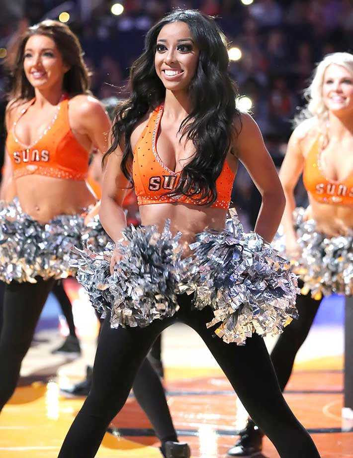 The Phoenix Suns dancers during the game against Houston.