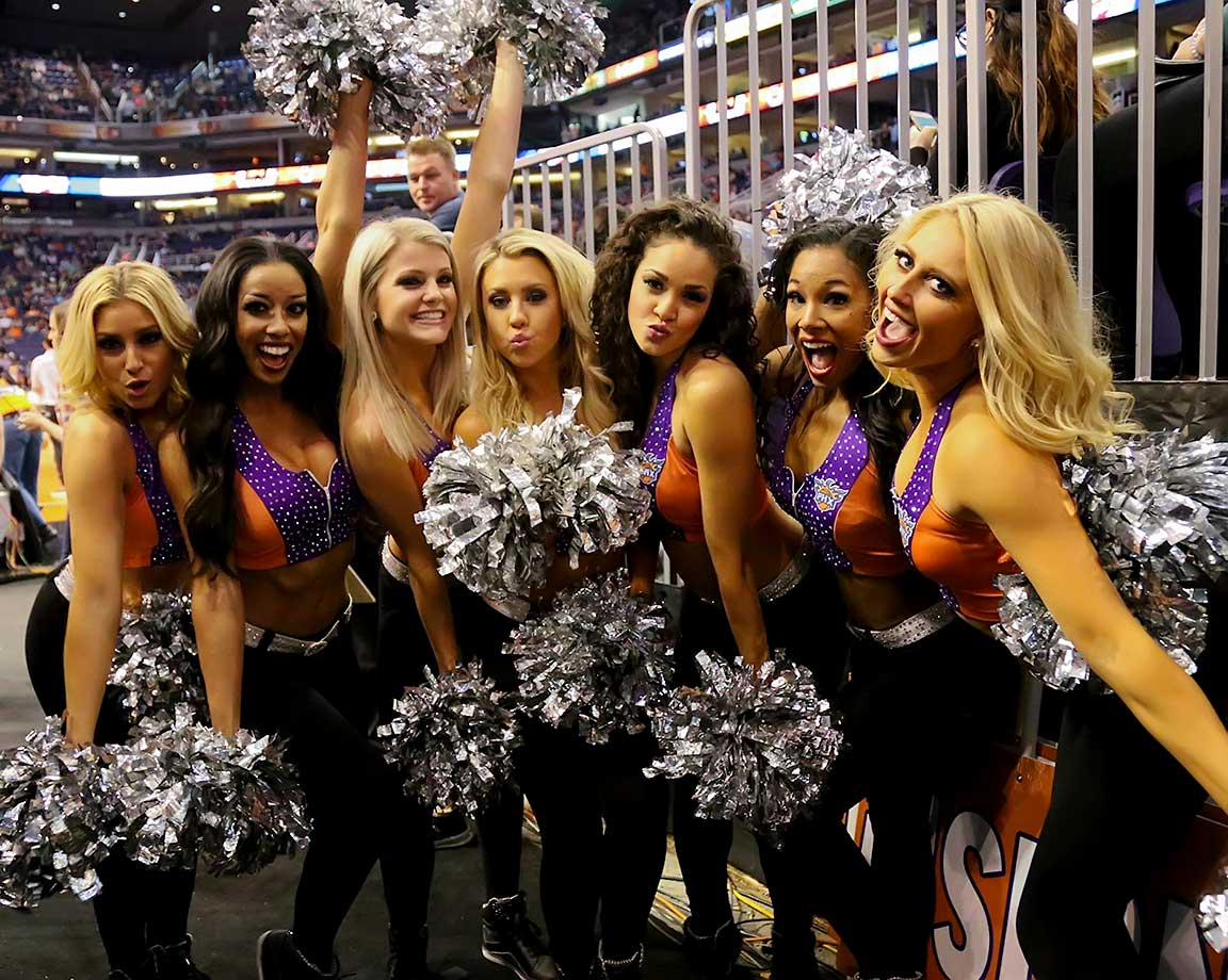 The Phoenix Suns dancers during a break in the action
