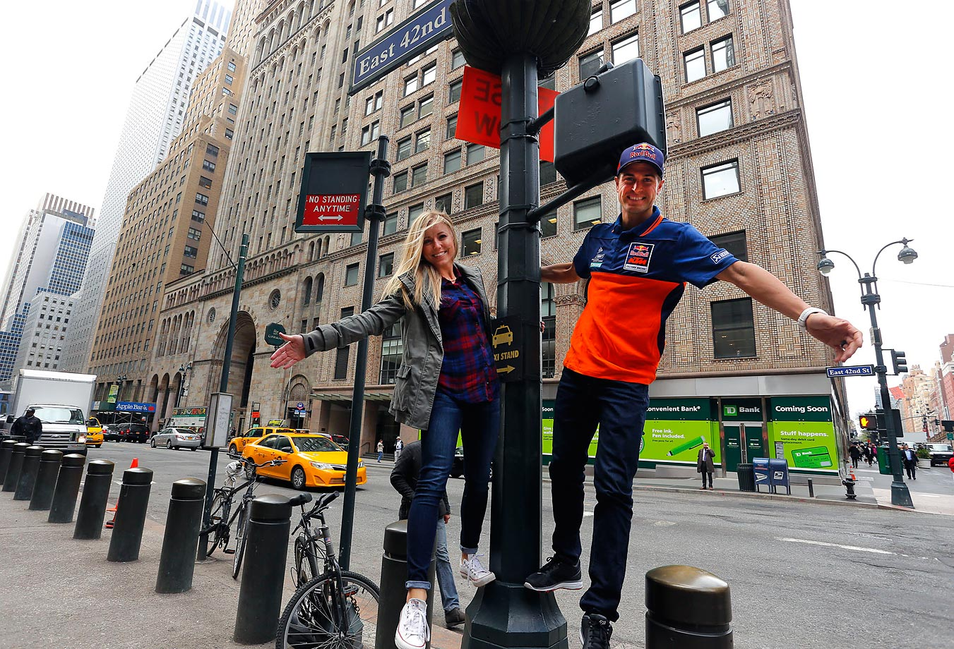 Ryan Dungey and his wife, Lindsay, have some fun in New York City while in town for a press conference before the Supercross event.