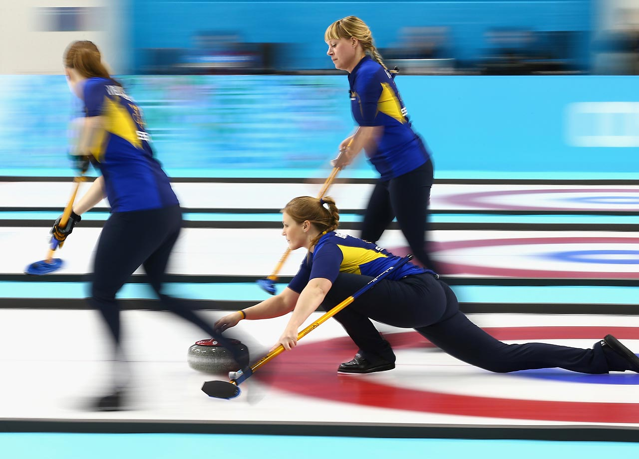 Christina Bertrup of Sweden in action during a match against Great Britain.