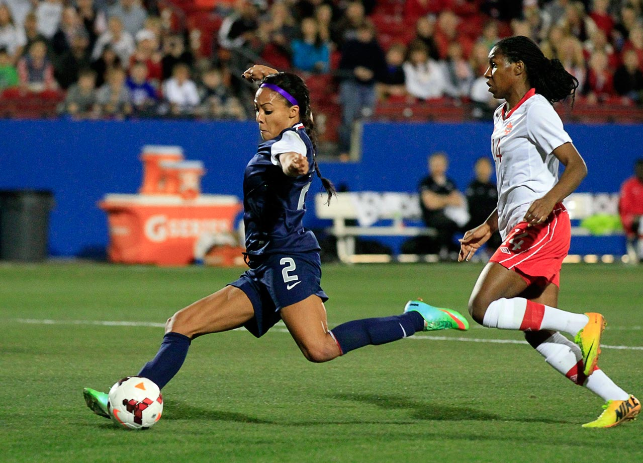 Leroux enjoyed a stellar breakout onto the international scene with 14 goals in 2012, including a five-goal game in her hometown of Vancouver, B.C., against group-stage opponent Guatemala. She also scored four goals in one game in 2013 against Mexico, the U.S.'s biggest threat in these qualifiers.