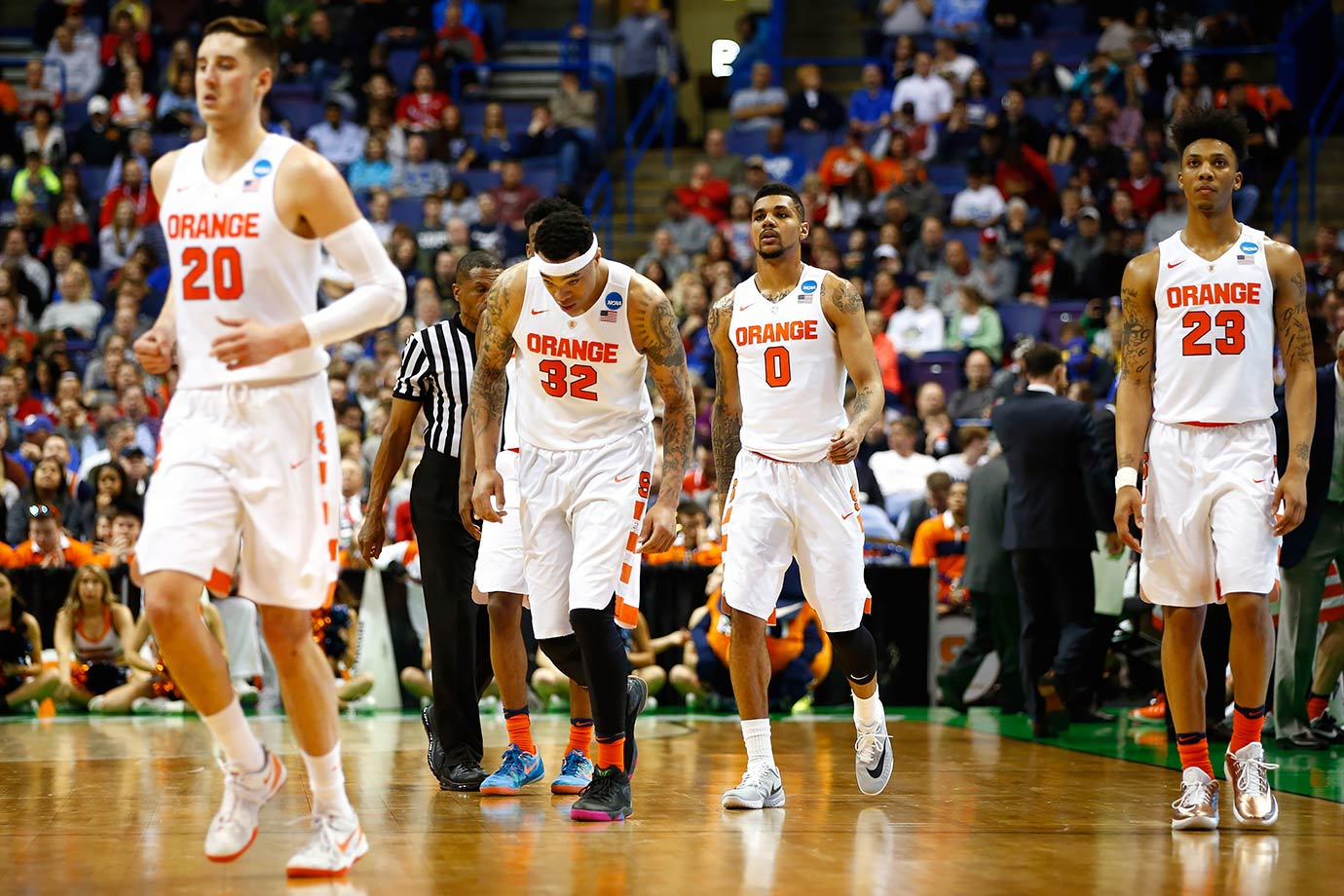 Let's be honest. The Orange are lucky to be here. They barely made it into the field, and had the most favorable draw of any team, with just Dayton and Middle Tennessee State standing between them and the Sweet 16. The duo of Domantas Sabonis and Kyle Wiltjer will be kryptonite to the 2-3 zone.