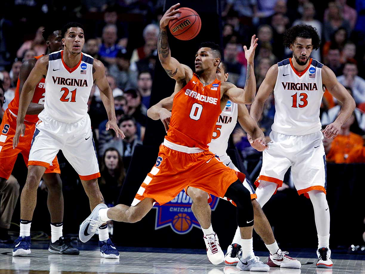 Michael Gbinije and Syracuse overcame a 16-point second-half deficit.