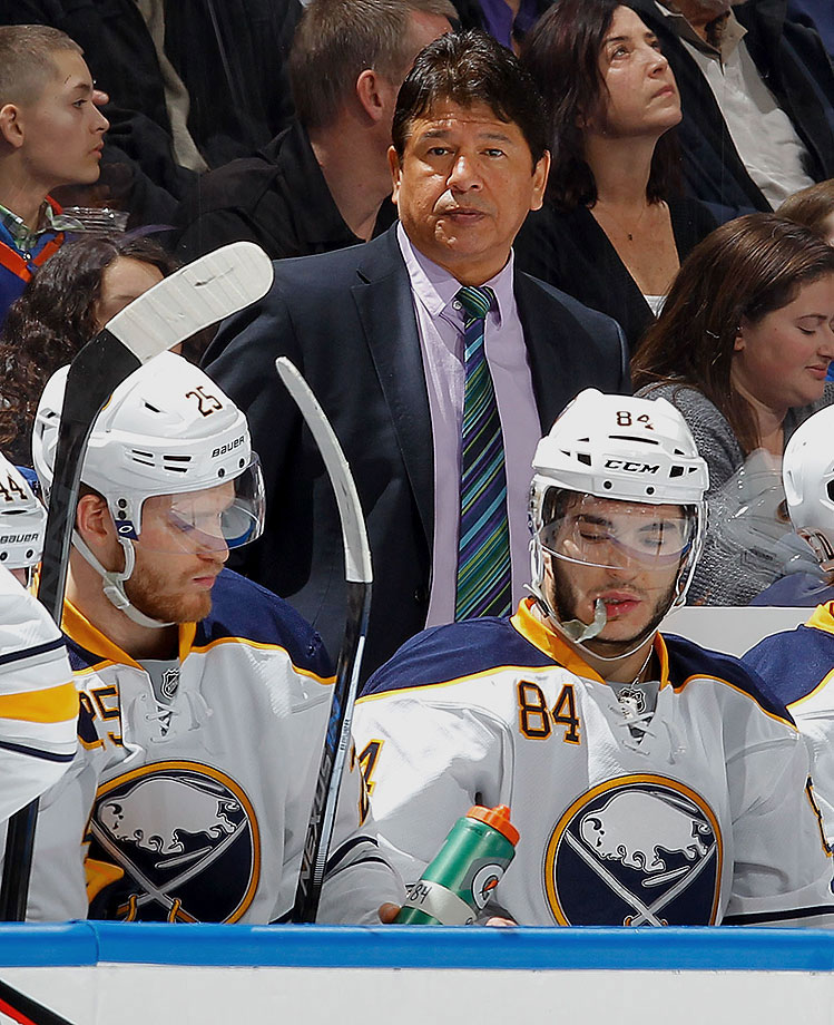 Ted Nolan completed just under two years as coach of the Buffalo Sabres before tenuous working relationships with GM Tim Murray forced him out at the tail end of the 2015 season.