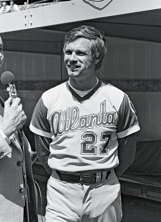 Turner is best known for leading the Tomahawk chop with his then-wife, Jane Fonda, during the Atlanta Braves' playoff runs in the 1990s. But he has been an active participant with the team since purchasing it in 1976 and even managed the Braves for a game in 1977. Turner also owned the Atlanta Hawks from 1976 to 2004 and also was owner and skipper of the yacht Courageous, which won the 1977 America's Cup.