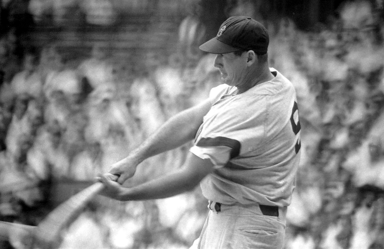 Williams led the American League in home runs four times and won the Triple Crown twice. The Splendid Splinter became the fourth member of the club on June 17, 1960, in Cleveland with a two-run homer off Wynn Hawkins.