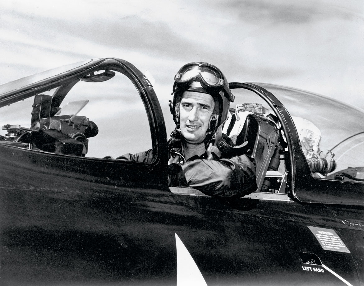 """Teddy Ballgame"" entered active duty with the Navy in 1943, one year after winning the AL Triple Crown. Williams served three years and was certified as a Naval Aviator in 1944. Eight year later, at the age of 33, Williams was recalled to active duty for service in the Korean War, where he flew 39 combat missions. The Red Sox great hit 521 home runs and had a lifetime .344 batting average."