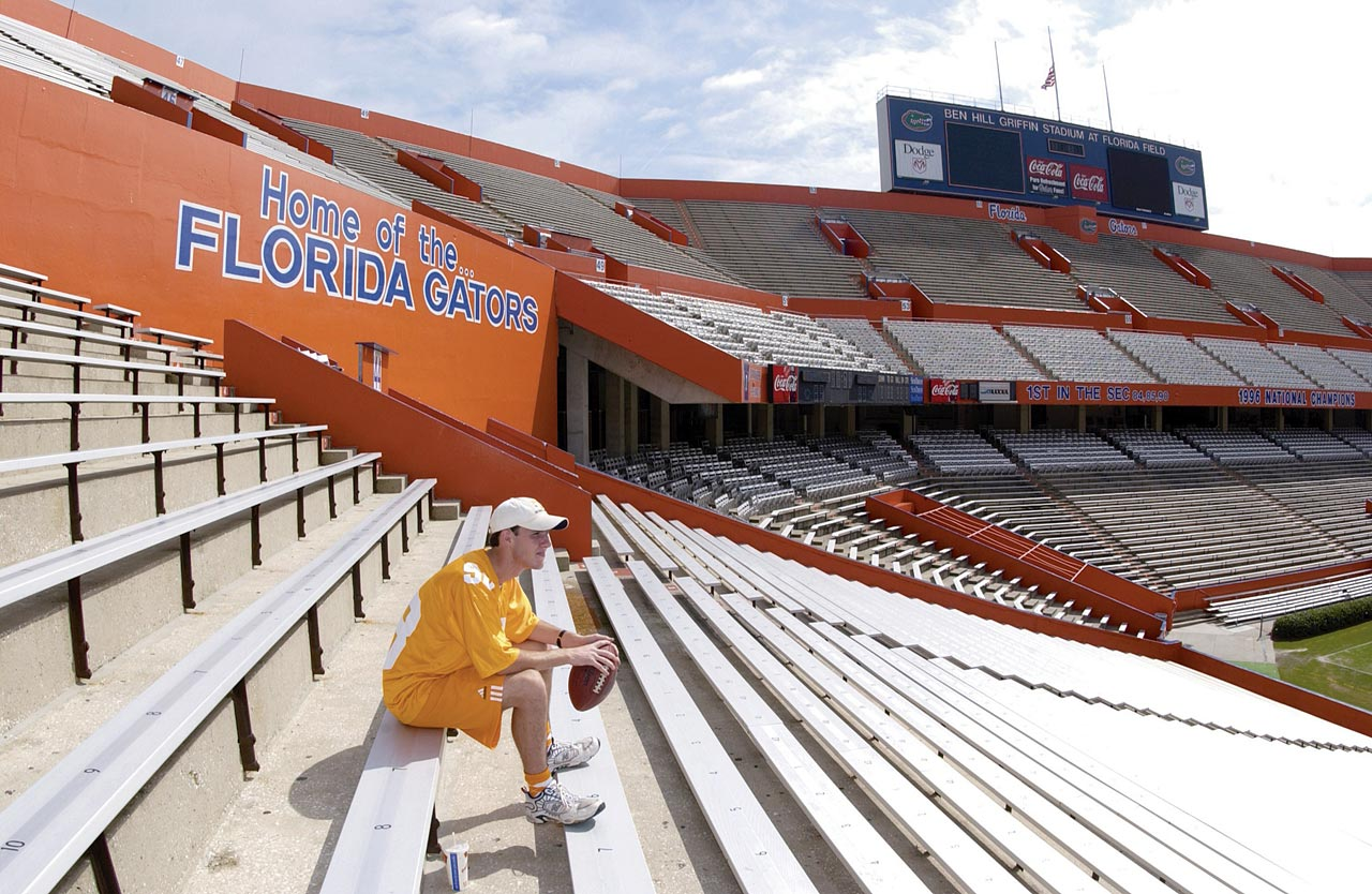 Save for one fan in full Volunteers regalia, the Swamp was devoid of its usual 83,000 game-day inhabitants the Saturday after 9/11, when Florida was scheduled to play Tennessee.
