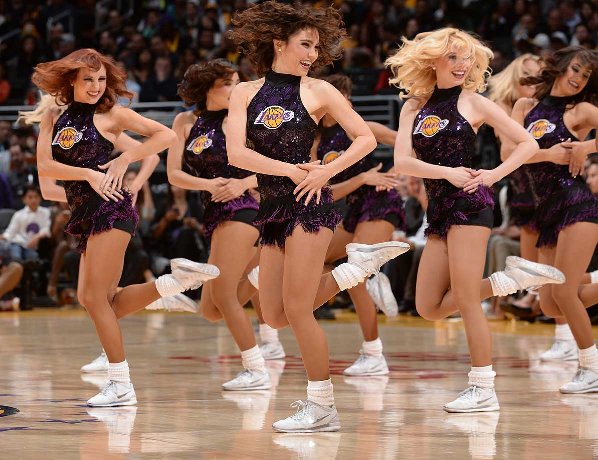 Dancers perform during the game between the Memphis Grizzlies and Los Angeles Lakers.