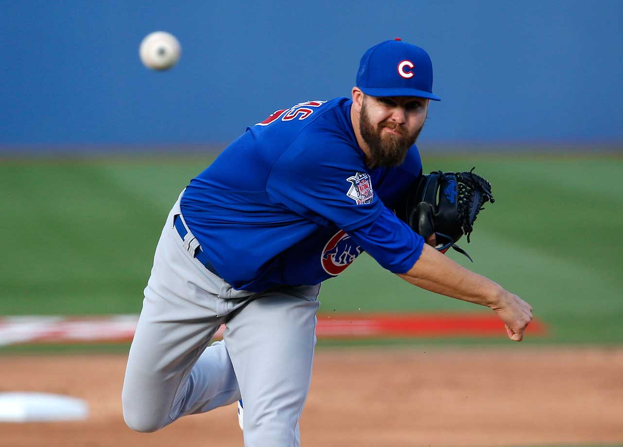 Chicago Cubs' Ryan Williams pitches against the New York Mets in Las Vegas.