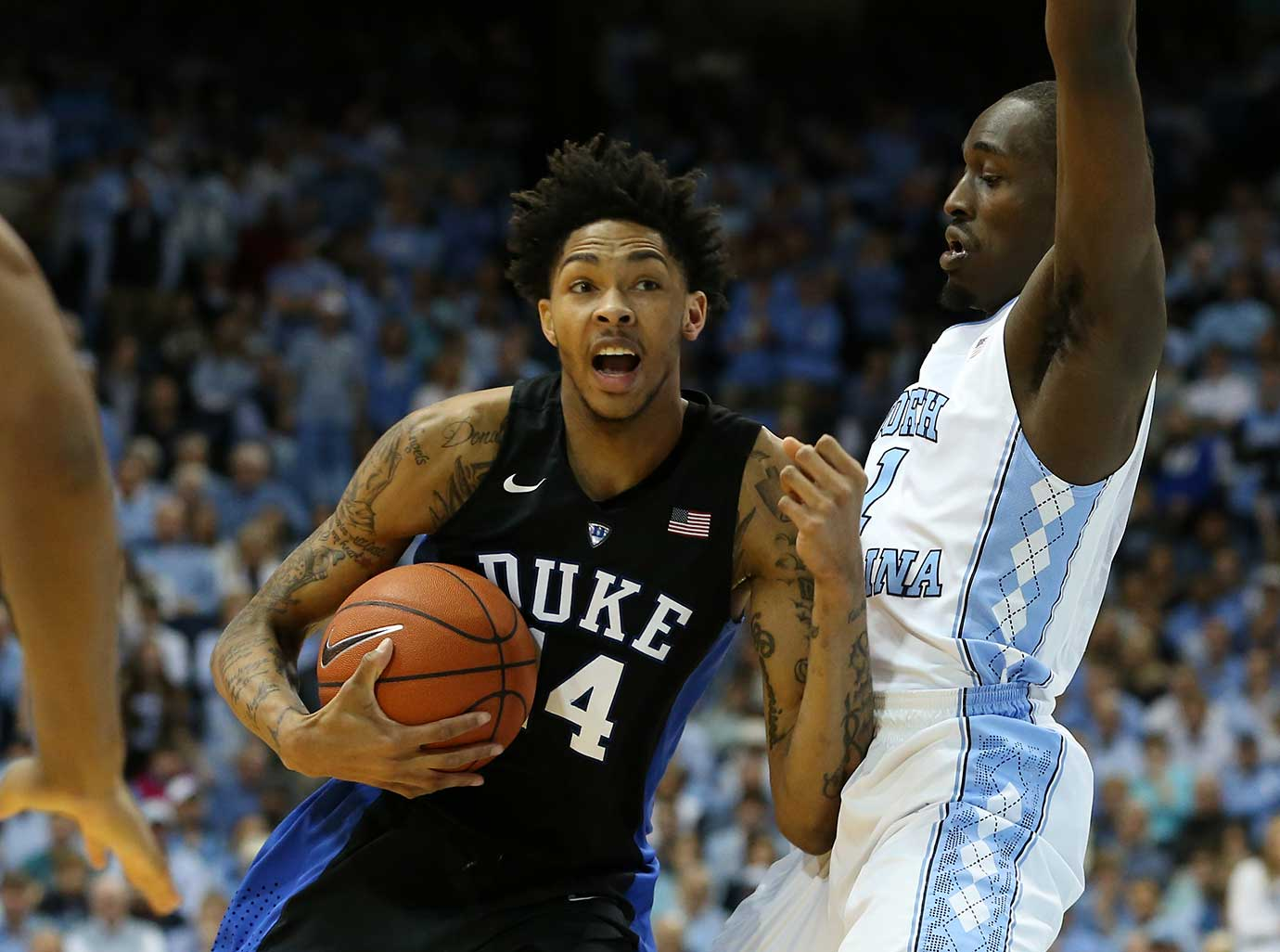 Duke freshman Brandon Ingram had 20 points and 10 rebounds in the win over North Carolina.