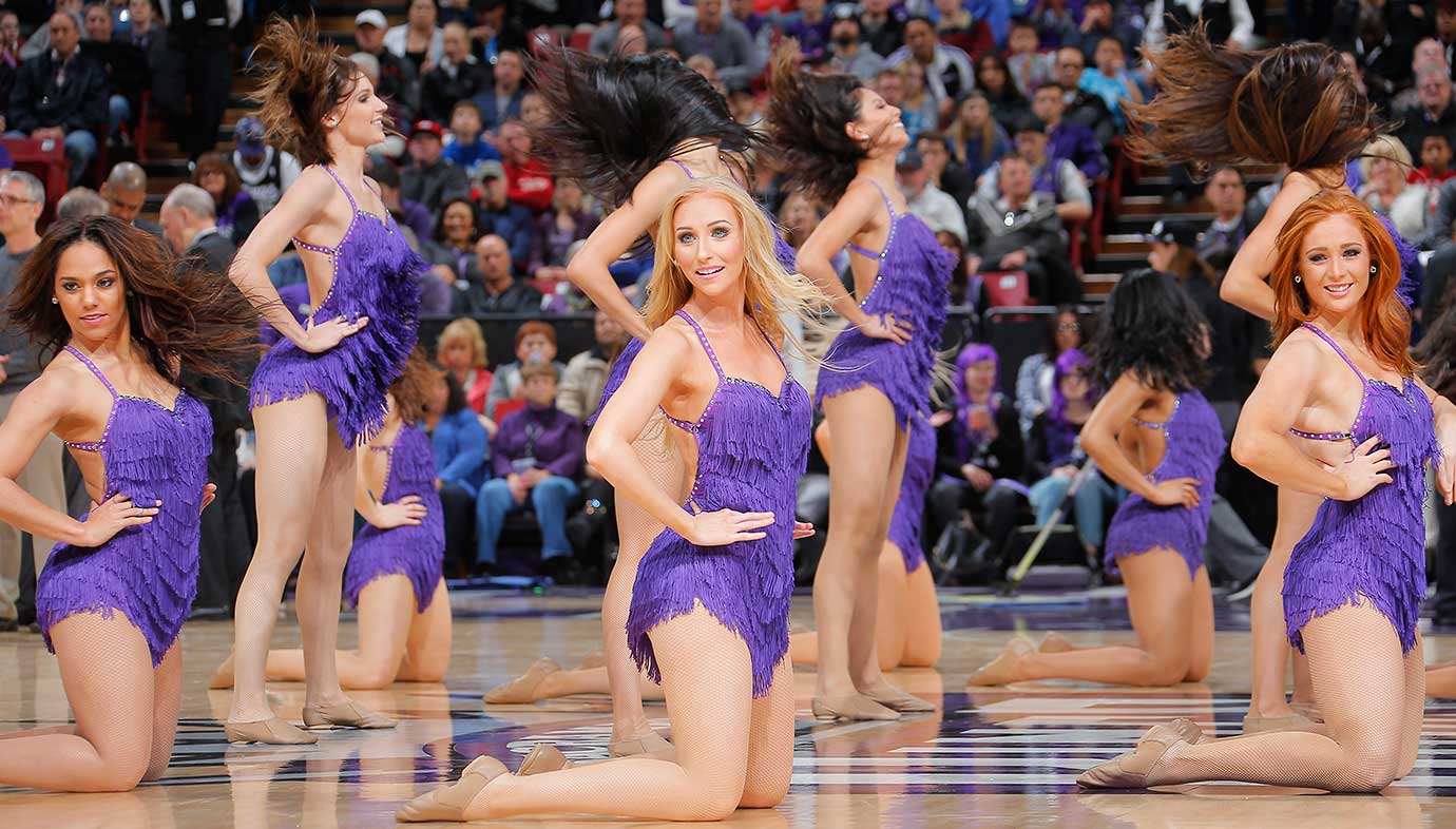 Dancers perform during the game between Utah and Sacramento.