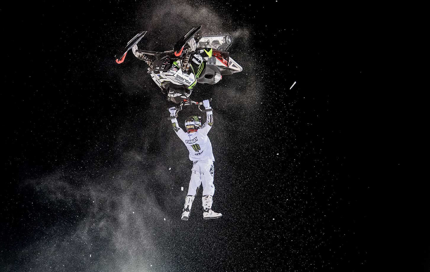 Heath Frisby races during the snowmobile freestyle final at the Winter X Games 2016 Aspen at Buttermilk Mountain. Frisby took home the bronze medal in the event.