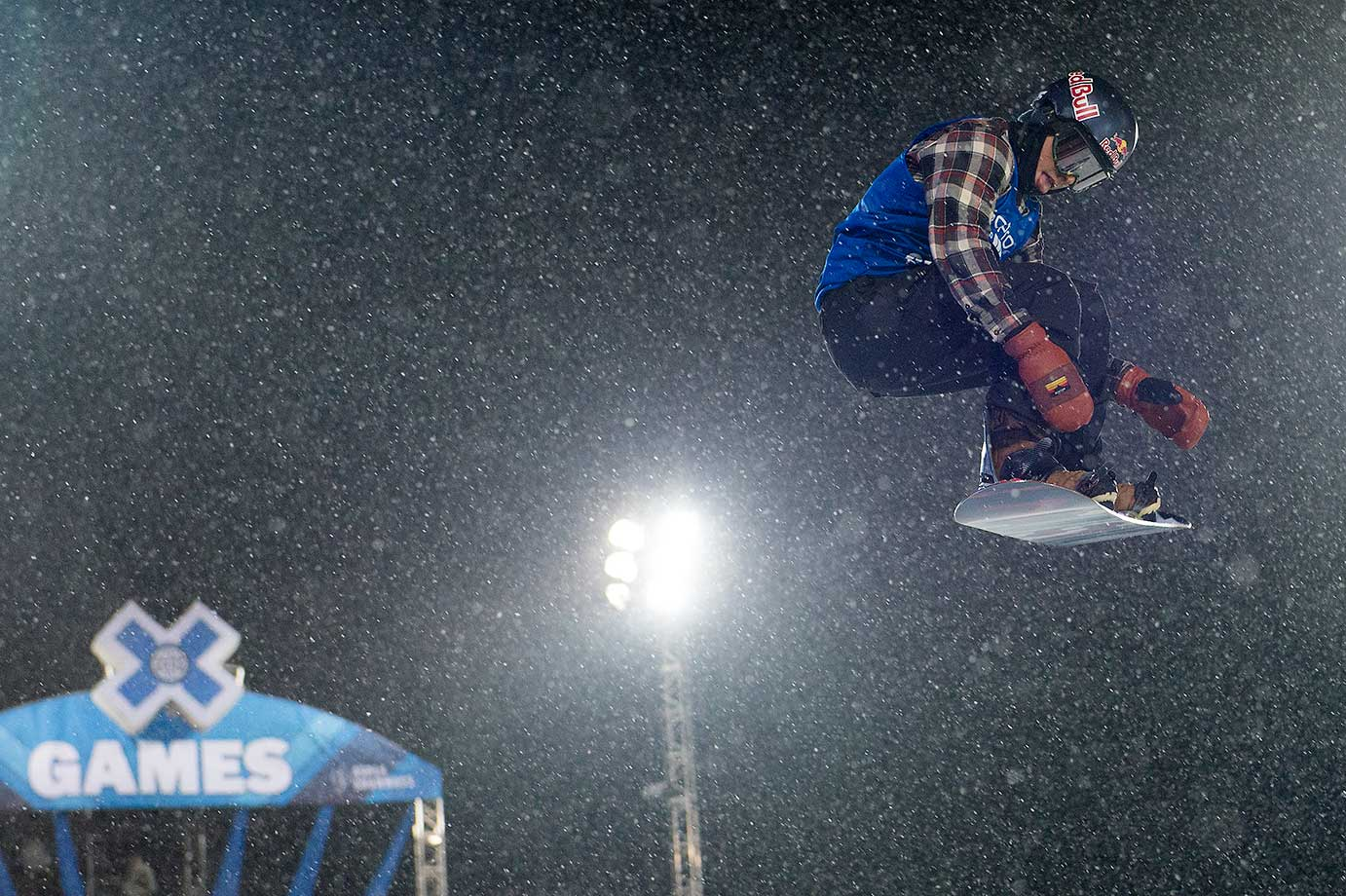 Ben Ferguson competes during his first run of the snowboard halfpipe at Winter X Games 2016 Aspen at Buttermilk Mountain. Ferguson won the silver medal after the event was canceled after one run because of snow.