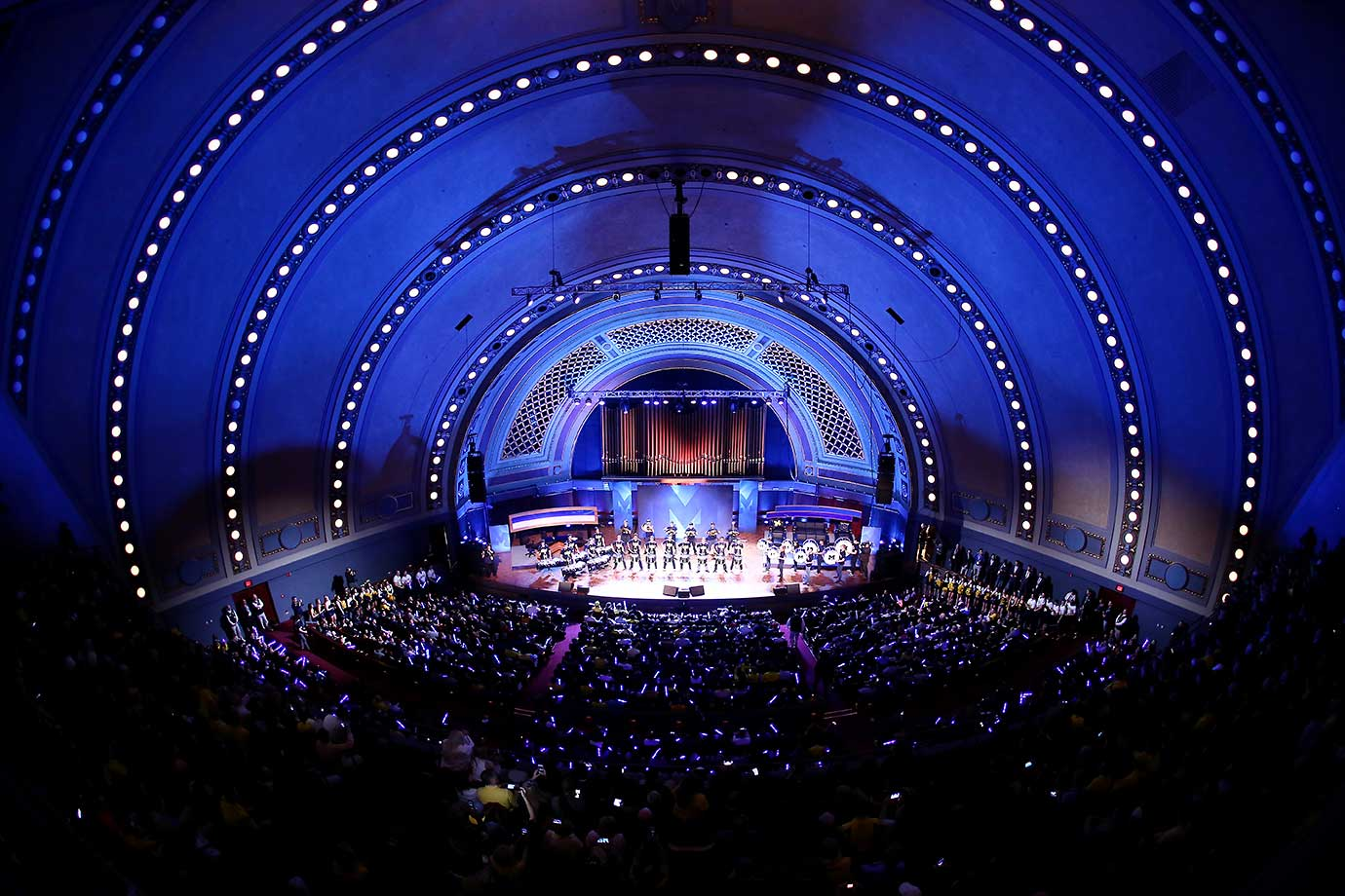 General view of Hill Auditorium during the Michigan Signing of the Stars event in Ann Arbor, Mich.