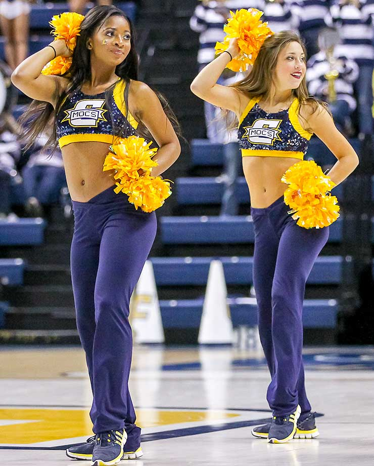 The Chattanooga Sugar Mocs perform during the game between UT Chattanooga and Wofford.