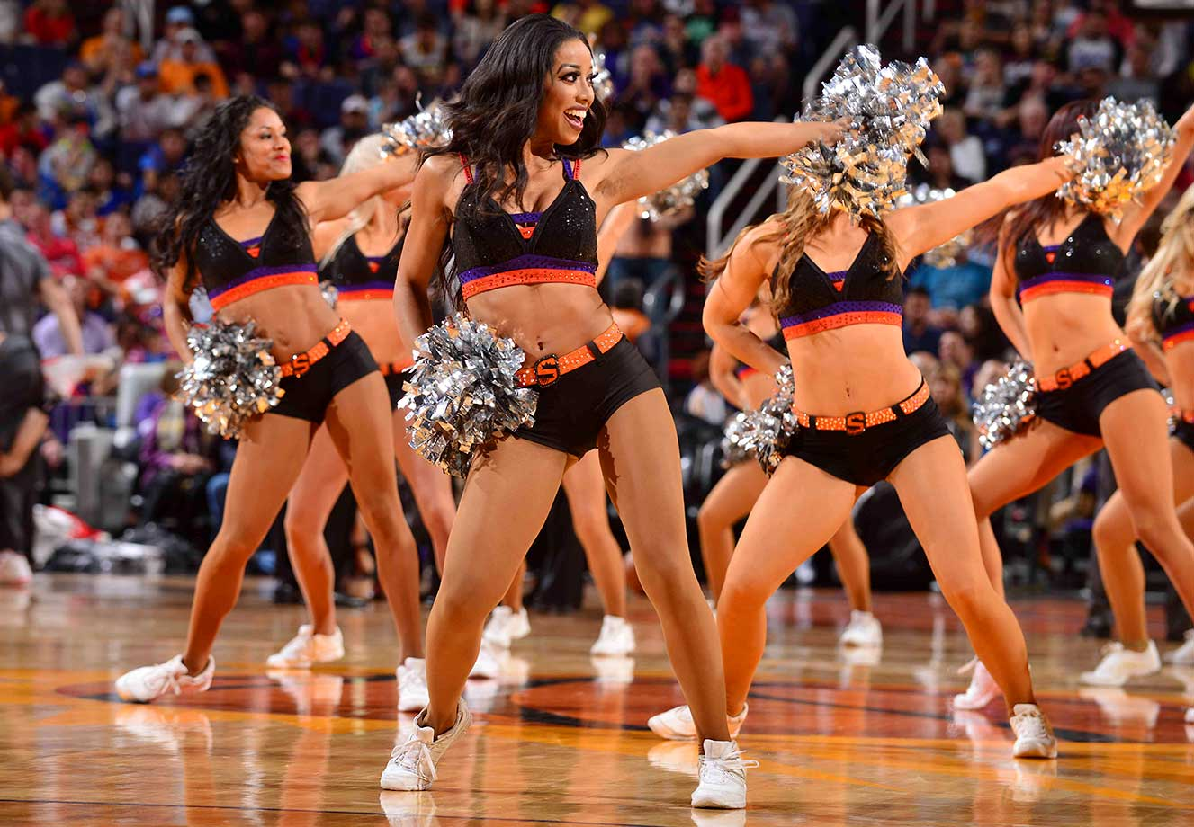 Dancers perform during the game between the Oklahoma City Thunder and Phoenix Suns.