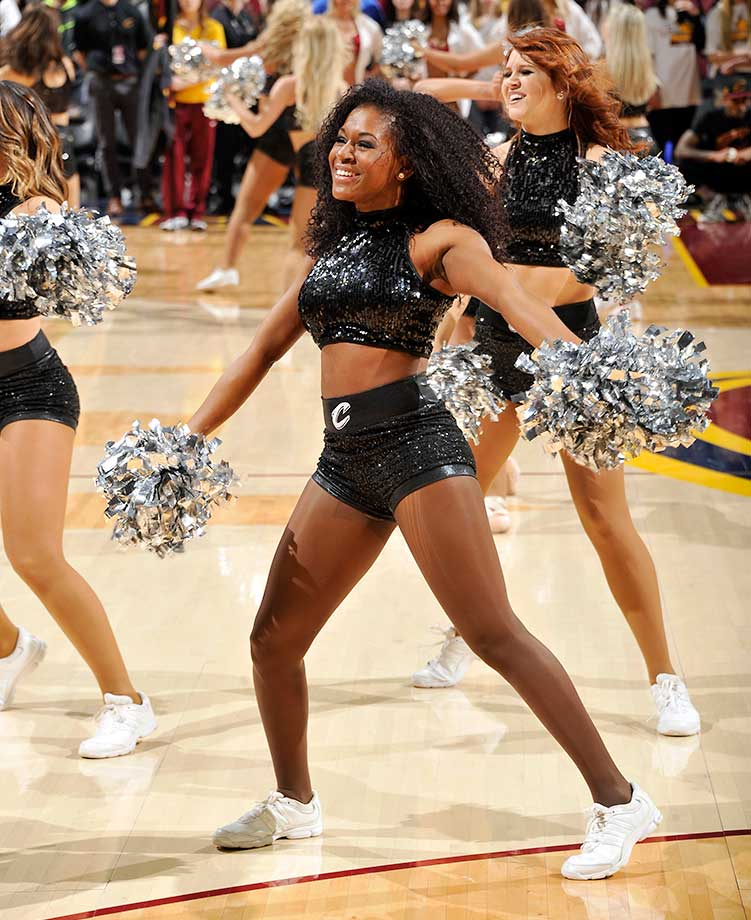 The Cleveland Cavaliers dance team performs during the game against the Los Angeles Clippers at Quicken Loans Arena in Ohio.