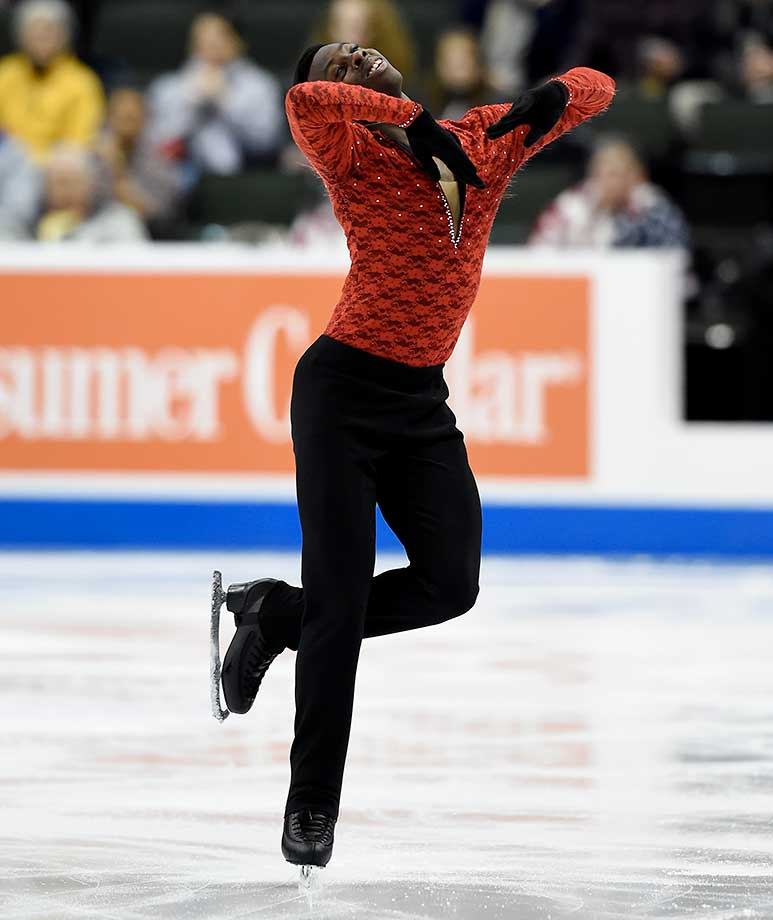 Emmanuel Savary competes in the Short Program at the 2016 Prudential U.S. Figure Skating Championship at Xcel Energy Center in St Paul, Minn.