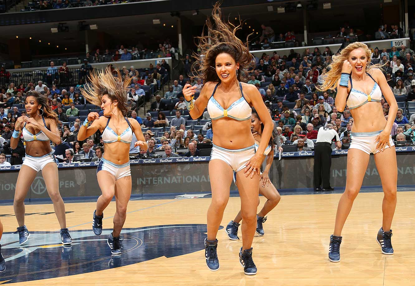 The Memphis Grizzlies dance team is seen during the game against the Orlando Magic.