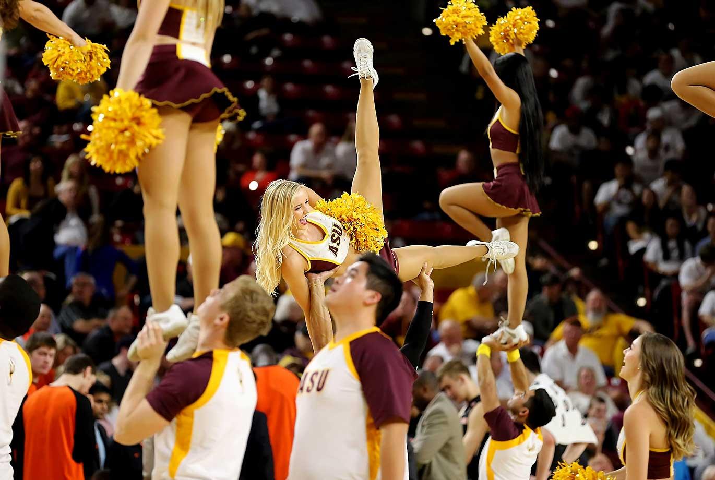 Arizona State cheerleaders perform