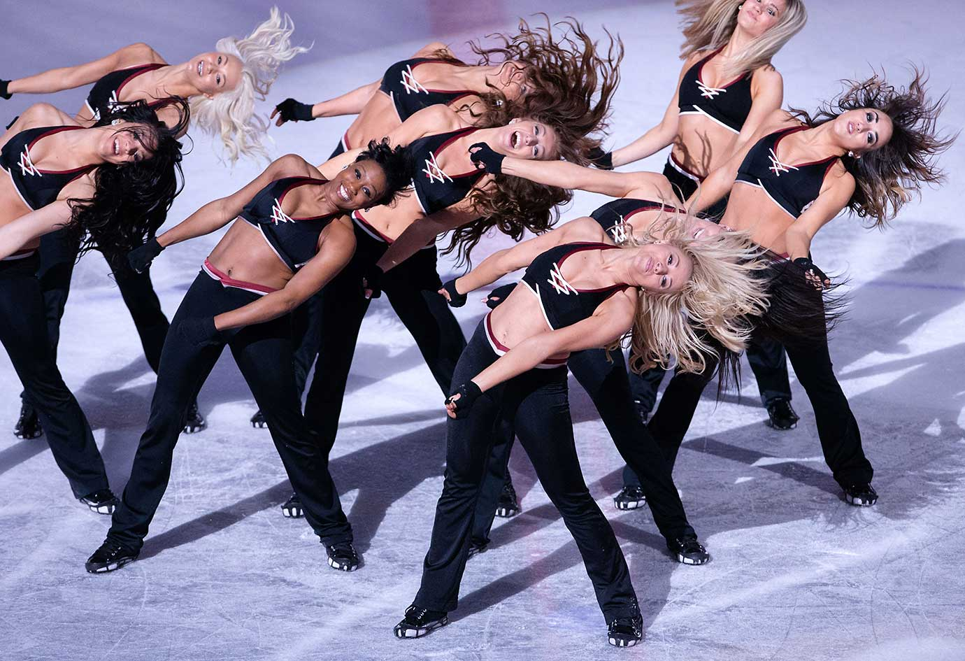 The Monsters Hockey Girls perform during an AHL game between the Milwaukee Admirals and Lake Erie.