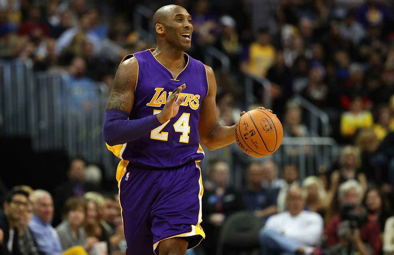 Kobe Bryant played 11 minutes and finished with five points in his last game in Denver.