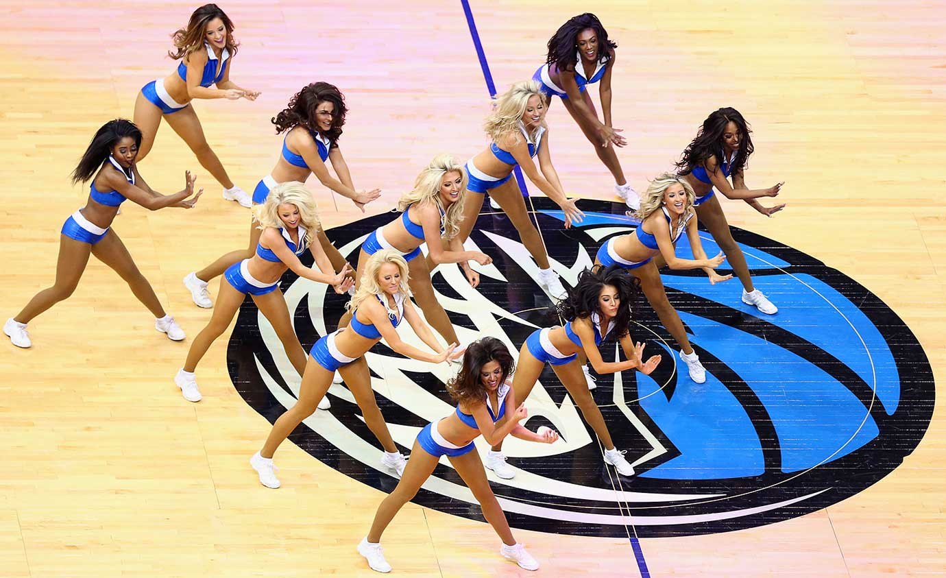 The Dallas Mavericks Dancers during their team's 104-101 loss to Sacramento.