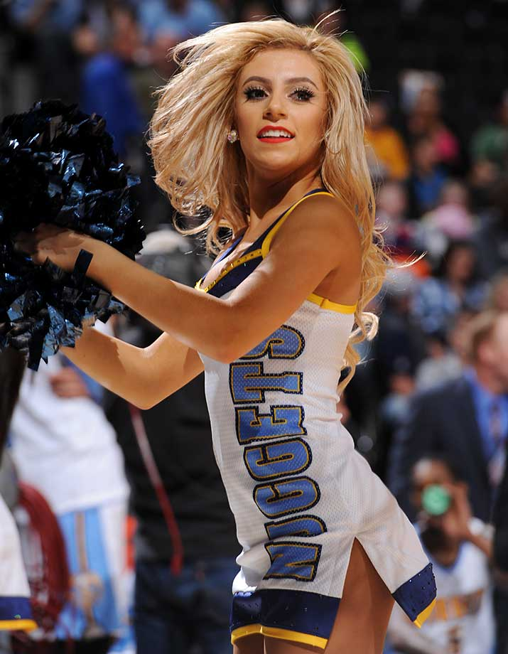 The Denver Nuggets dance team during the game against the Dallas Mavericks.