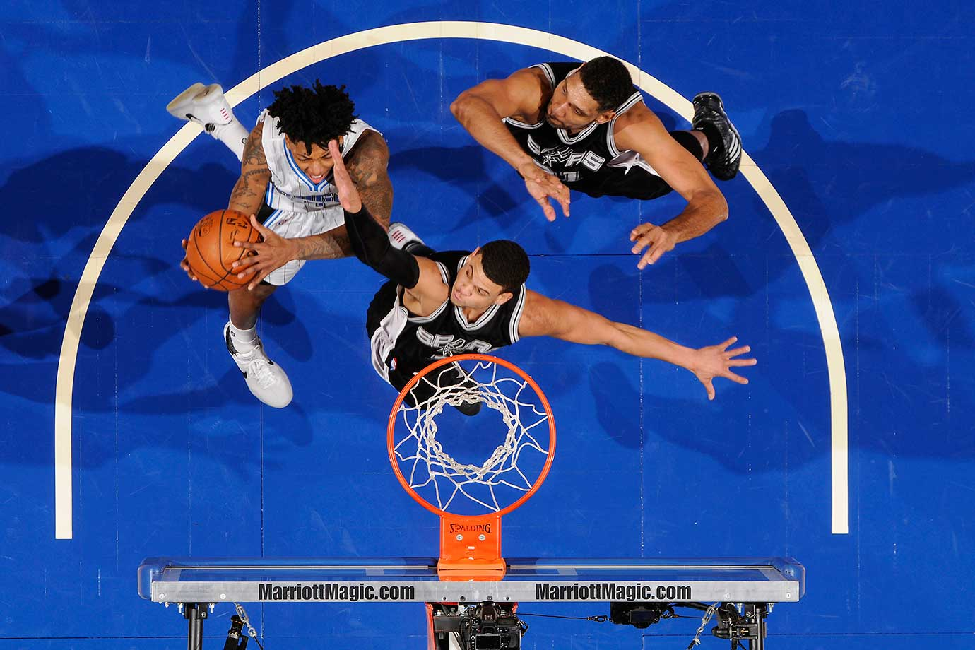 Elfrid Payton of the Orlando Magic shoots the ball against the San Antonio Spurs.