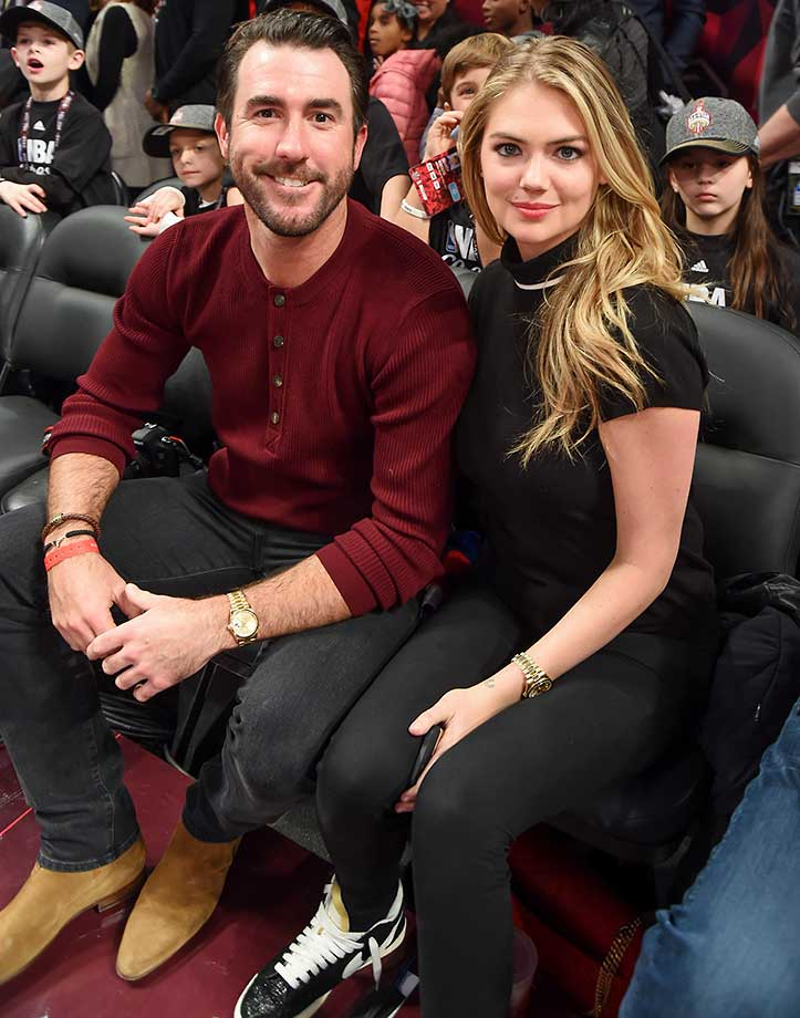 Justin Verlander and Kate Upton at the NBA All-Star Game in Toronto.